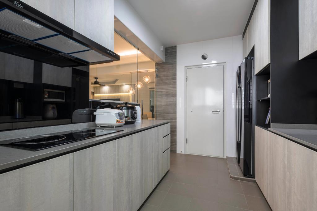 Modern, HDB, Kitchen, Boon Lay Avenue, Interior Designer, DS 2000 Interior & Design, Building, Housing, Indoors, Loft