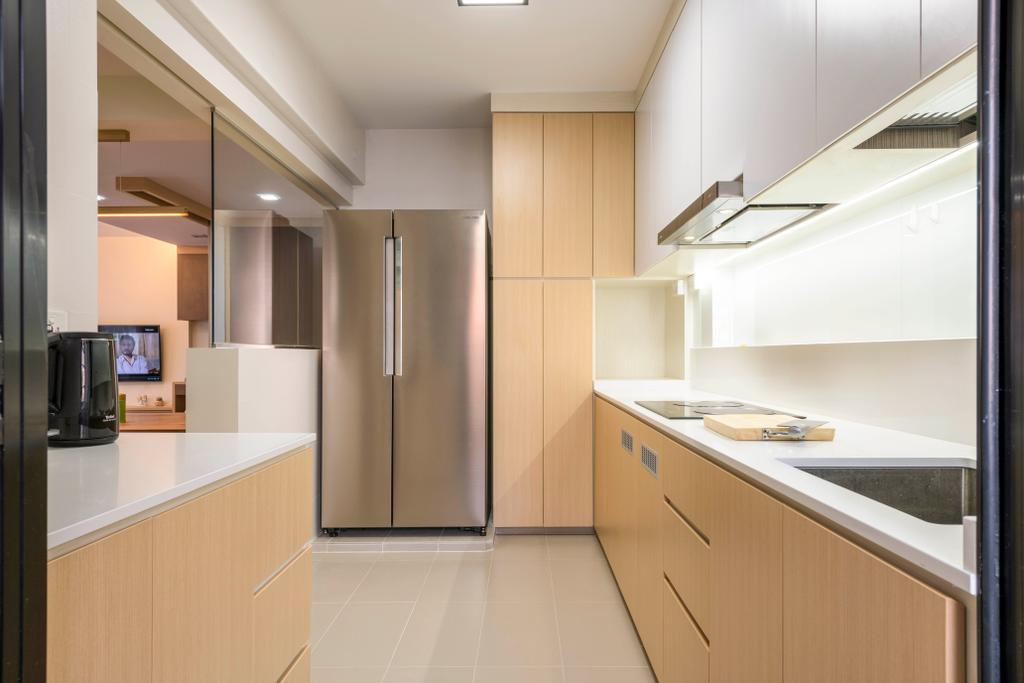 Modern, HDB, Kitchen, Buangkok Crescent, Interior Designer, DS 2000 Interior & Design, Indoors, Interior Design, Room