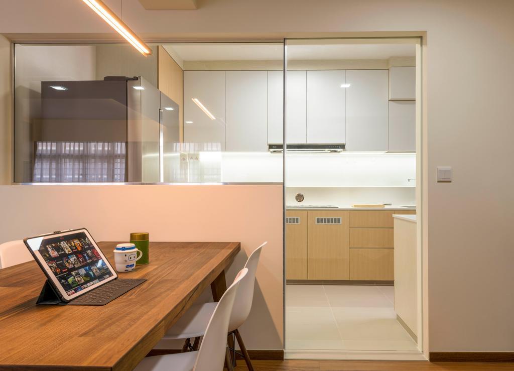 Modern, HDB, Dining Room, Buangkok Crescent, Interior Designer, DS 2000 Interior & Design, Computer, Electronics, Tablet Computer, Sink, Building, Housing, Indoors, Loft