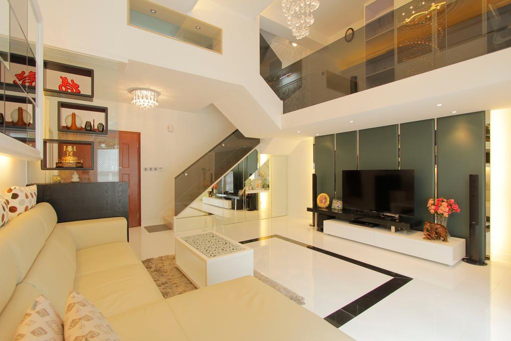 摩登, 獨立屋, 客廳, 加州花園, 室內設計師, 和生設計, Indoors, Interior Design, Couch, Furniture