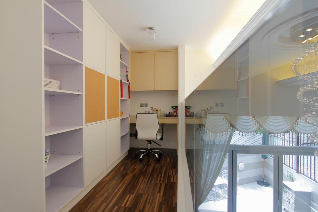 加州花園, 和生設計, 摩登, 書房, 獨立屋, Indoors, Interior Design, Flooring
