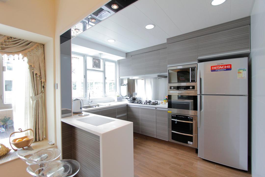 加州花園, 和生設計, 摩登, 廚房, 獨立屋, Indoors, Interior Design, Room, Appliance, Electrical Device, Fridge, Refrigerator, Sink