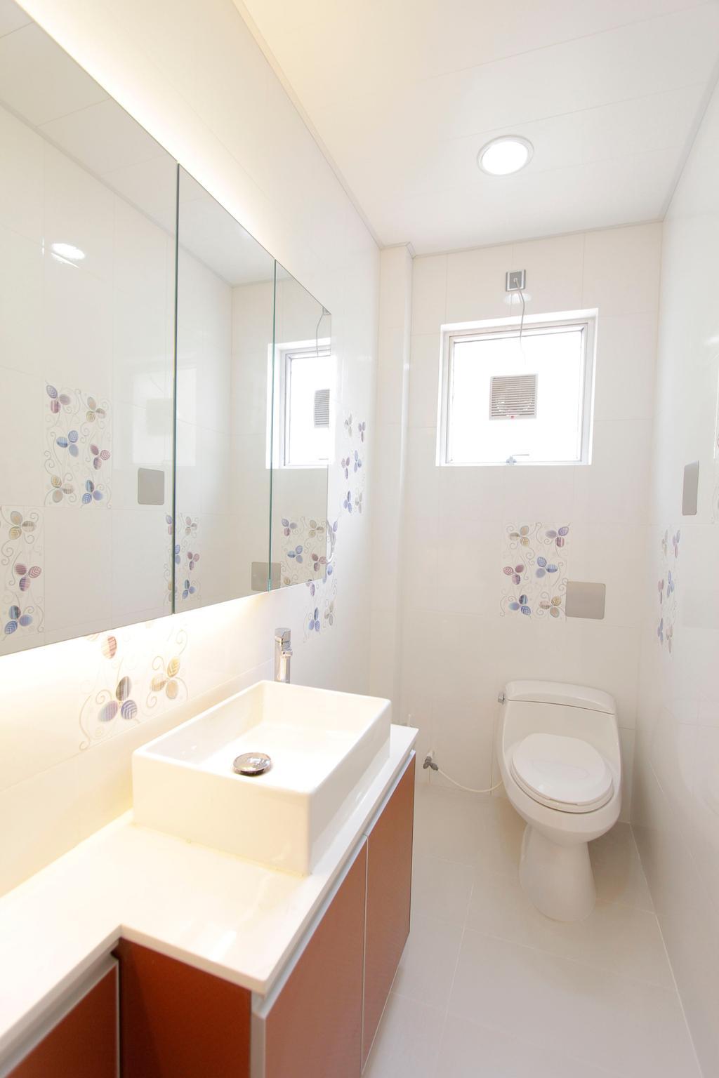 摩登, 獨立屋, 浴室, 加州花園, 室內設計師, 和生設計, Toilet, Sink, Indoors, Interior Design, Room