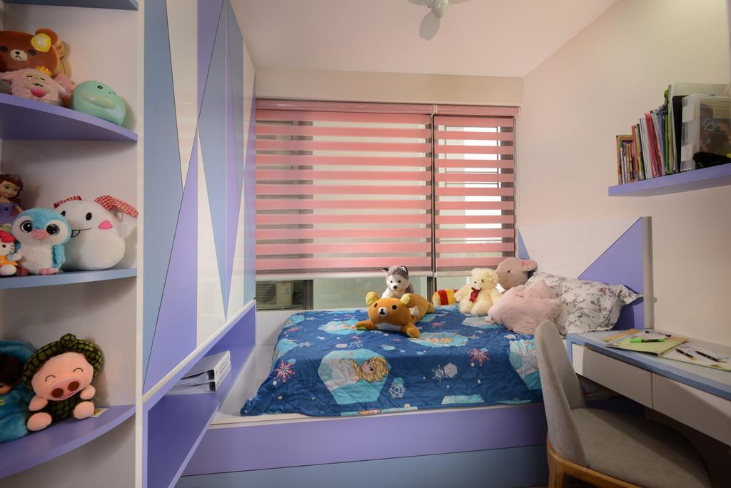 Modern, Condo, Bedroom, Punggol Field Walk, Interior Designer, Apex Design