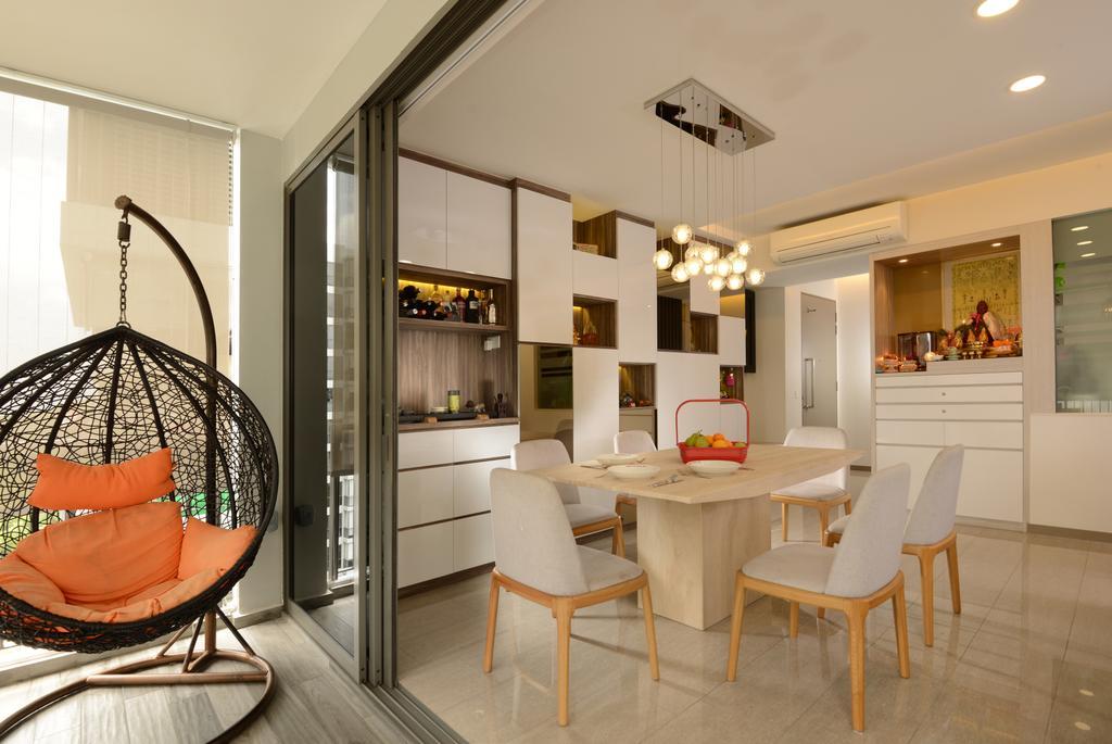 Modern, Condo, Dining Room, Punggol Field Walk, Interior Designer, Apex Studios