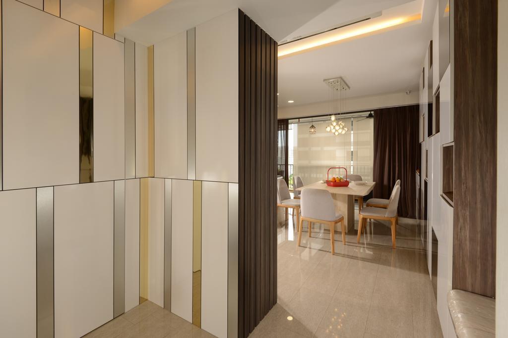 Modern, Condo, Dining Room, Punggol Field Walk, Interior Designer, Apex Design