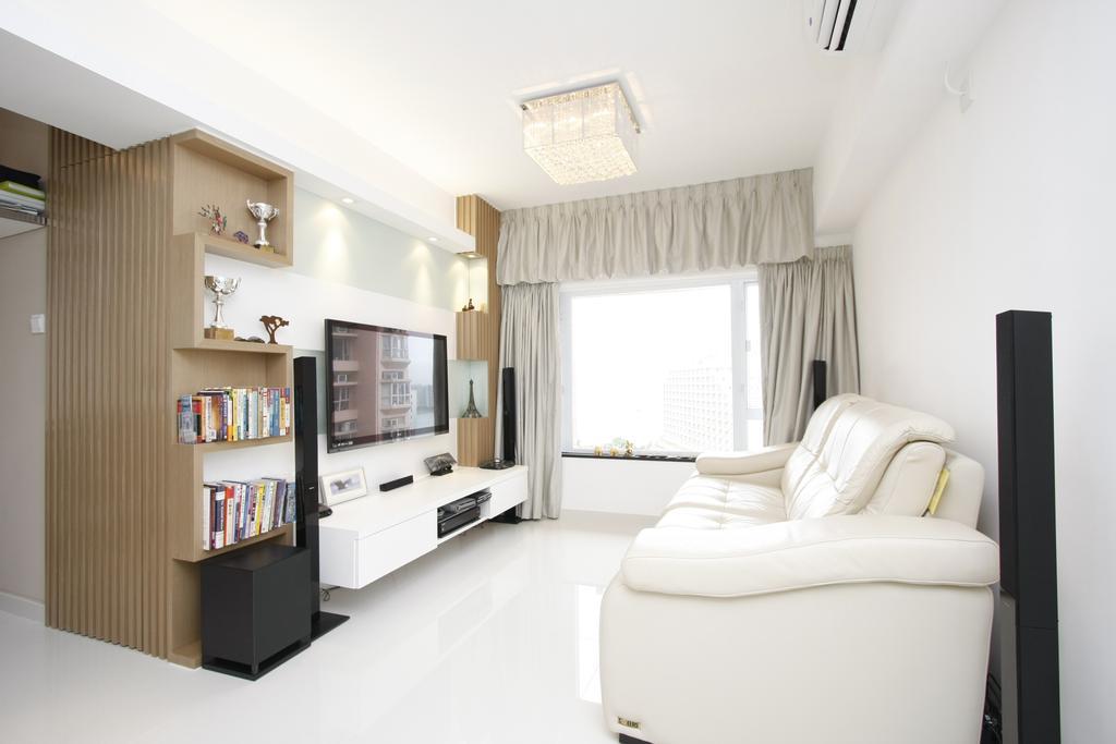 摩登, 私家樓, 客廳, 黃金海岸, 室內設計師, 和生設計, Bookcase, Furniture, Indoors, Interior Design