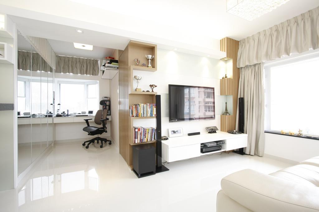 摩登, 私家樓, 客廳, 黃金海岸, 室內設計師, 和生設計, Bookcase, Furniture, Indoors, Interior Design, Cabinet