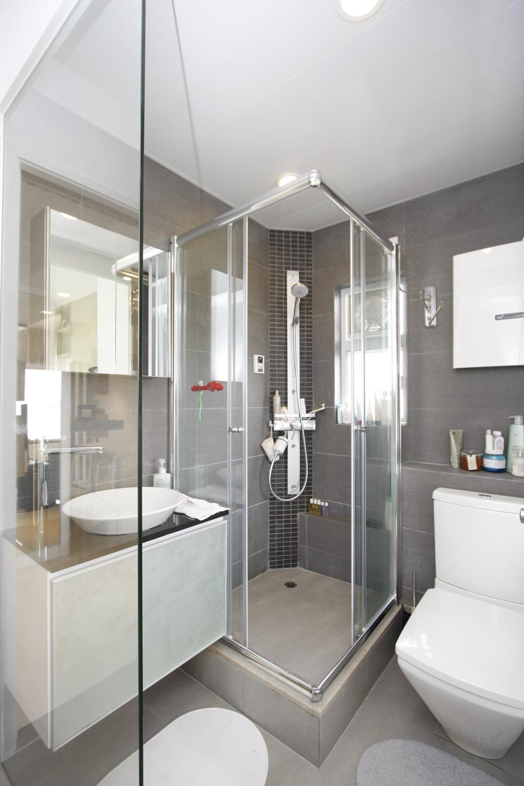 摩登, 私家樓, 浴室, 黃金海岸, 室內設計師, 和生設計, Indoors, Interior Design, Room, Bathtub, Tub, Sink