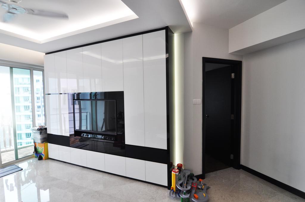 Modern, Condo, Living Room, Cote D'Azur, Interior Designer, GA7 Associates
