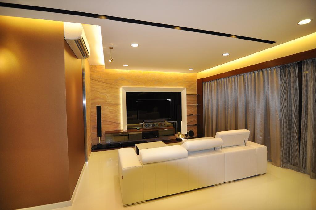 Transitional, Condo, Living Room, Sea View, Interior Designer, GA7 Associates
