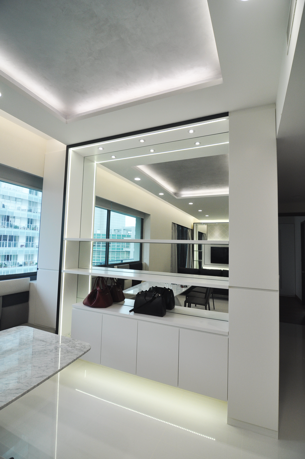 Modern, Condo, The Suites @ Central, Interior Designer, GA7 Associates