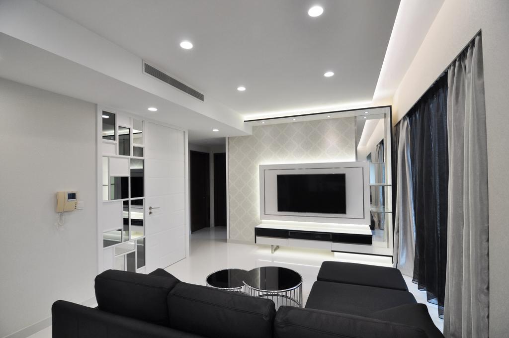 Modern, Condo, Living Room, The Suites @ Central, Interior Designer, GA7 Associates