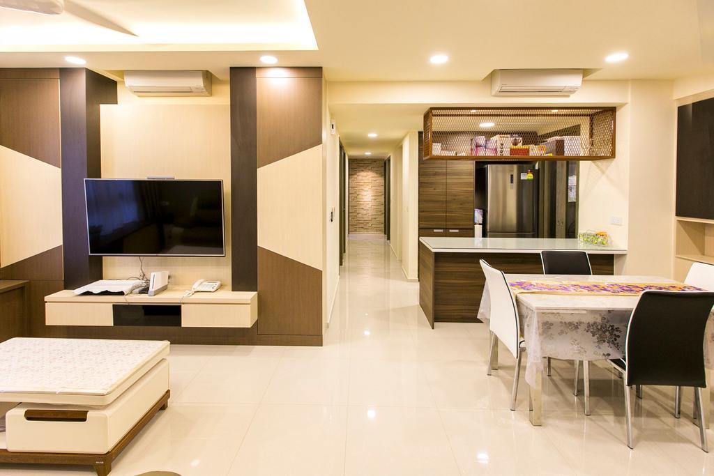 Modern, Condo, Living Room, Lush Acres, Interior Designer, 9's Interior, Sink, Dining Table, Furniture, Table, Bar Stool, Indoors, Interior Design