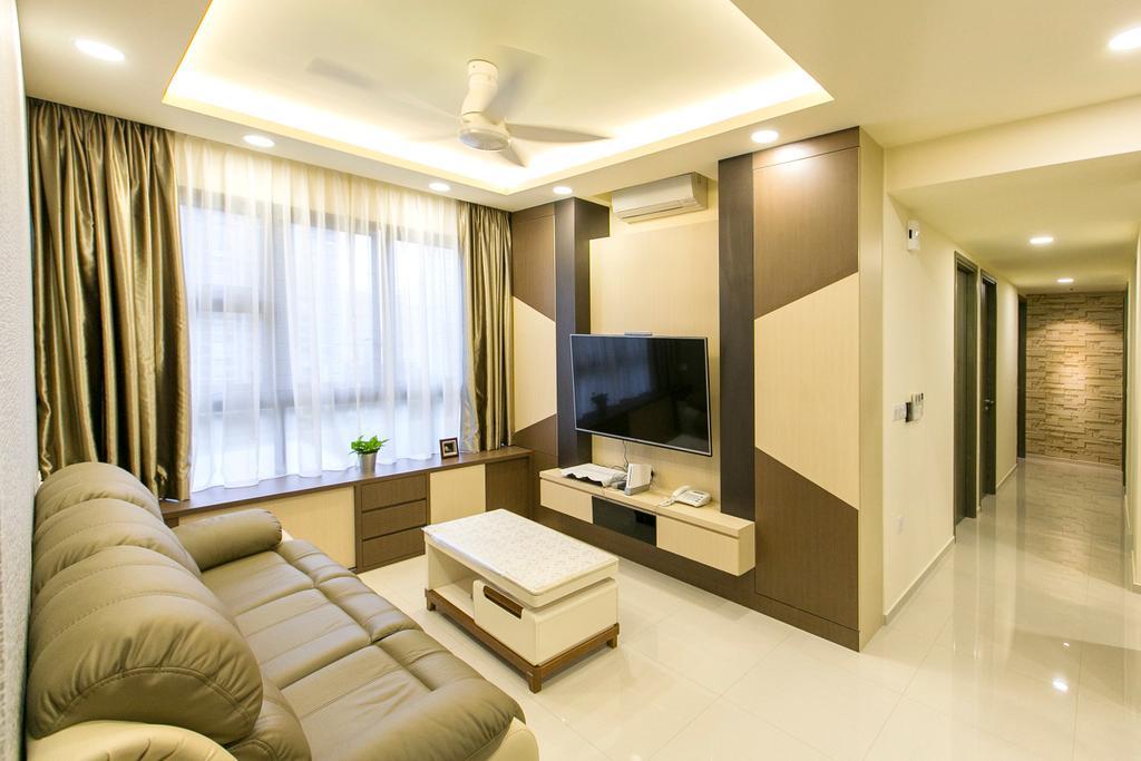 Modern, Condo, Living Room, Lush Acres, Interior Designer, 9's Interior, Indoors, Interior Design