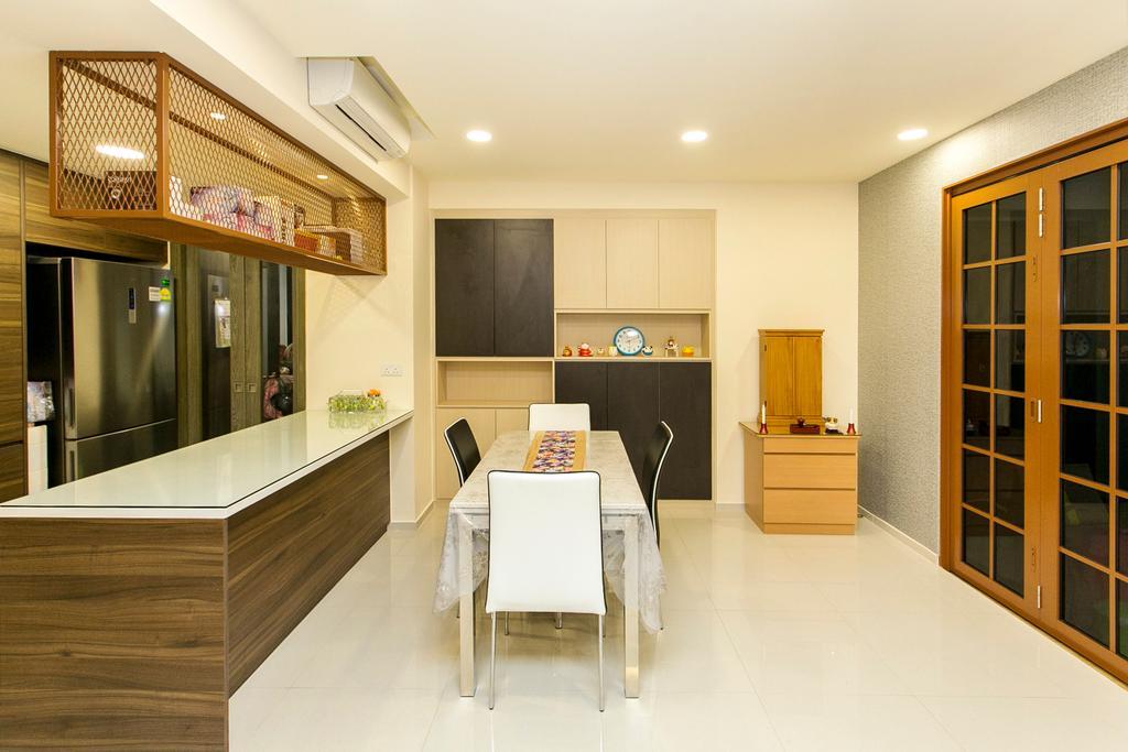Modern, Condo, Dining Room, Lush Acres, Interior Designer, 9's Interior, Dining Table, Furniture, Table, Flooring, Indoors, Interior Design, Room, Chair