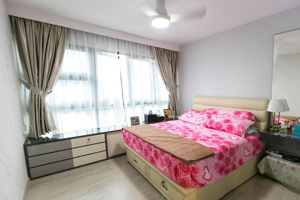 Modern, Condo, Bedroom, Lush Acres, Interior Designer, 9's Interior, Bed, Furniture, Indoors, Interior Design, Room