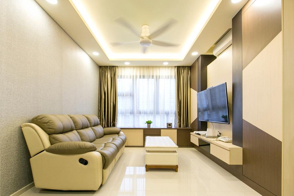 Modern, Condo, Living Room, Lush Acres, Interior Designer, 9's Interior, Indoors, Interior Design, Furniture, Room, Sideboard