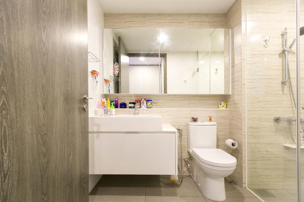 Modern, Condo, Bathroom, Lush Acres, Interior Designer, 9's Interior, Toilet, Indoors, Interior Design, Room
