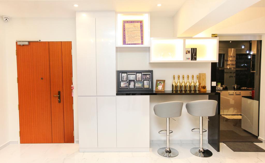 Modern, HDB, Yishun Street 51, Interior Designer, 9's Interior, Art, Art Gallery, Bar Stool, Furniture, Appliance, Electrical Device, Oven, Indoors, Interior Design, Kitchen, Room