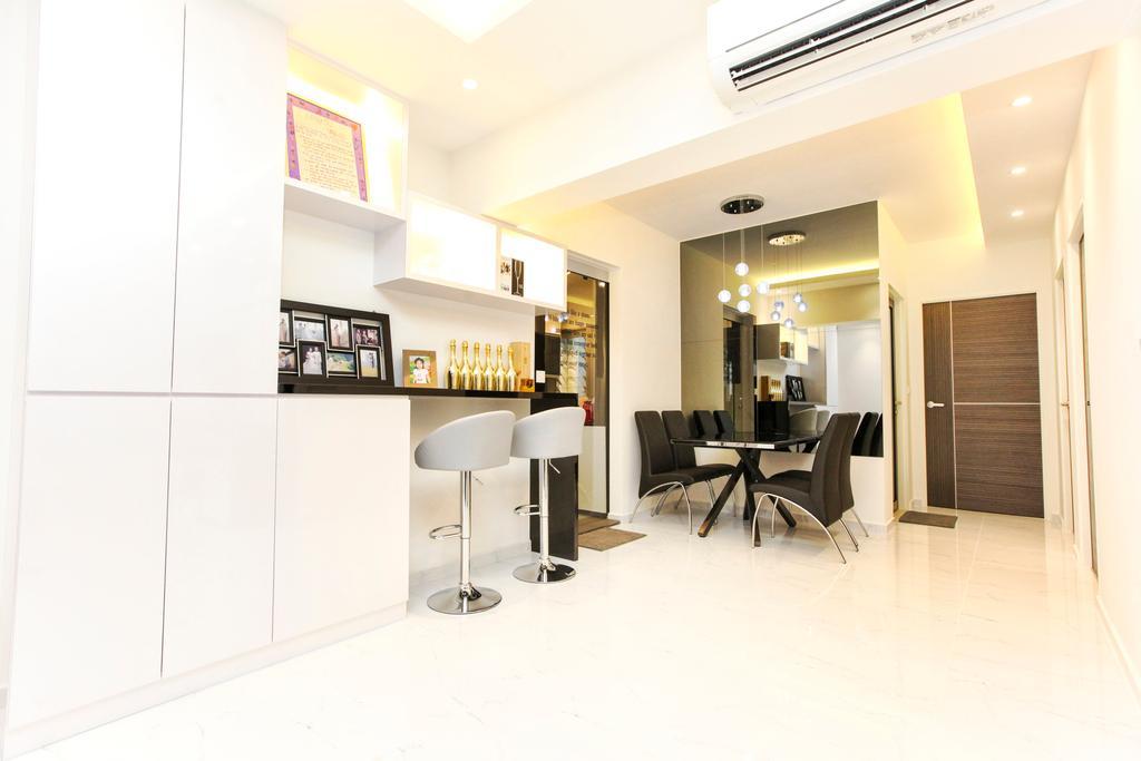 Modern, HDB, Yishun Street 51, Interior Designer, 9's Interior, Dining Table, Furniture, Table, Indoors, Interior Design