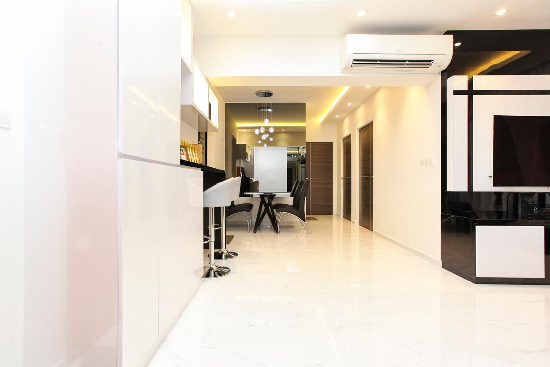 Yishun Street 51, 9's Interior, Modern, Living Room, HDB, Dining Table, Furniture, Table, Indoors, Interior Design, Lighting