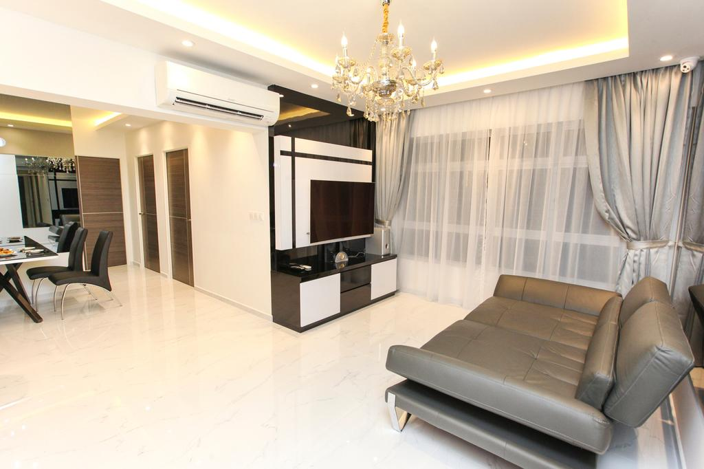 Modern, HDB, Living Room, Yishun Street 51, Interior Designer, 9's Interior, Chair, Furniture, Indoors, Interior Design, Couch, Dining Table, Table