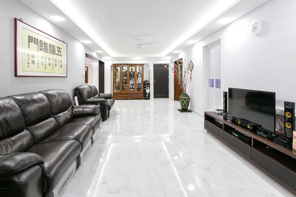 Modern, HDB, Living Room, Choa Chu Kang Street 51, Interior Designer, 9's Interior, Couch, Furniture