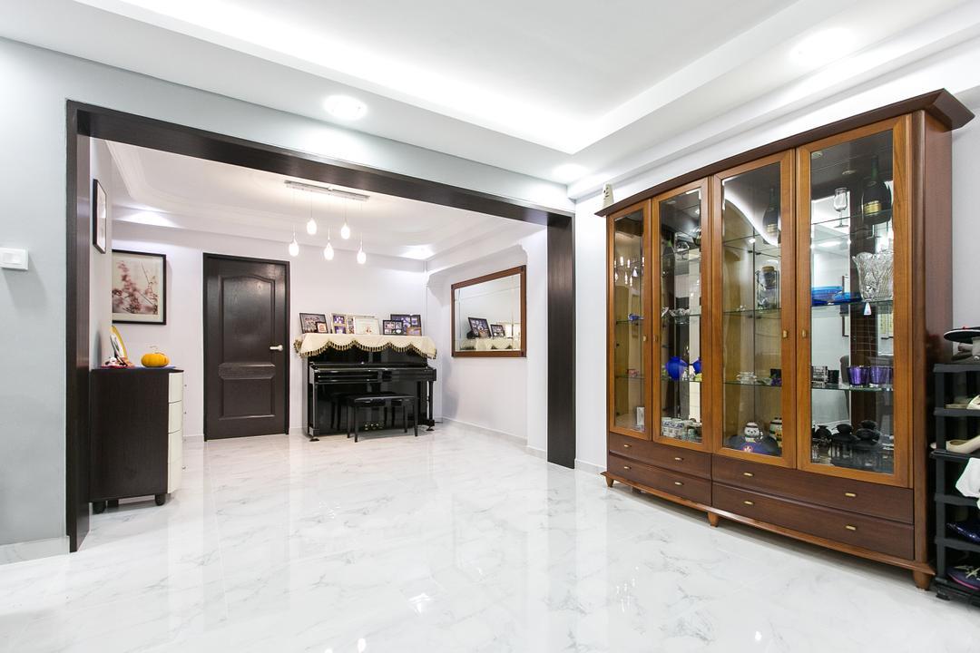 Choa Chu Kang Street 51, 9's Interior, Modern, Living Room, HDB, Lighting