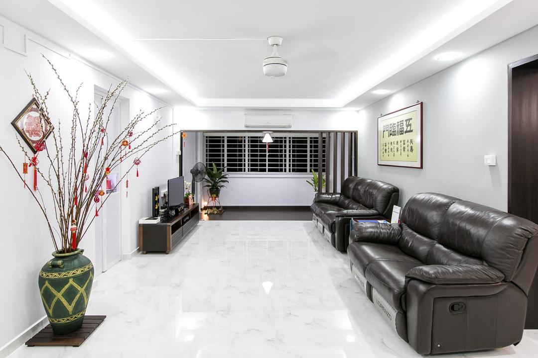 Choa Chu Kang Street 51, 9's Interior, Modern, Living Room, HDB, Jar, Pottery, Vase, Indoors, Room, Couch, Furniture