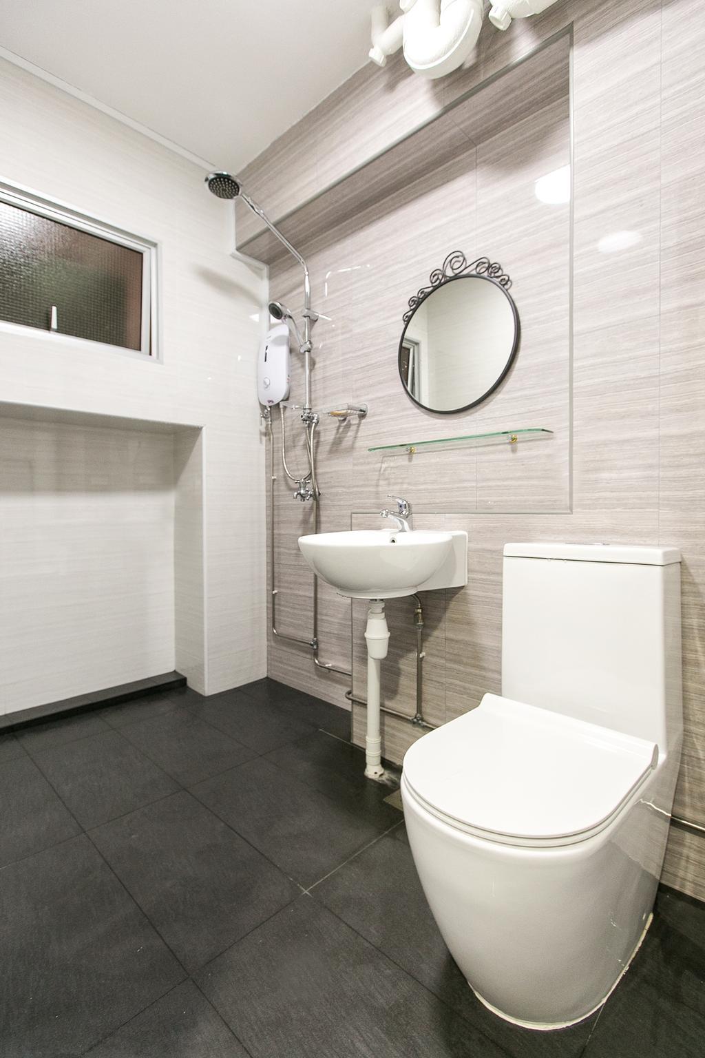 Modern, HDB, Bathroom, Choa Chu Kang Street 51, Interior Designer, 9's Interior, Mirror, Indoors, Interior Design, Room