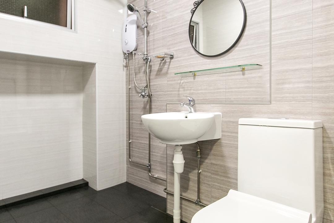 Choa Chu Kang Street 51, 9's Interior, Modern, Bathroom, HDB, Mirror, Indoors, Interior Design, Room