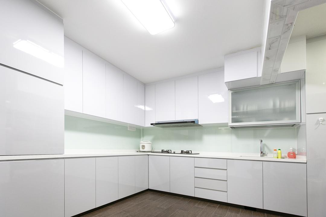 Choa Chu Kang Street 51, 9's Interior, Modern, Kitchen, HDB, Shelf