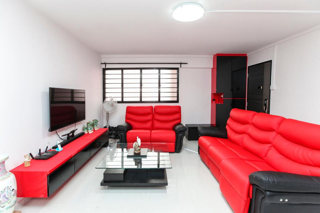Jurong Street 41, 9's Interior, Contemporary, Living Room, HDB, Couch, Furniture, Studio Couch, Indoors, Interior Design