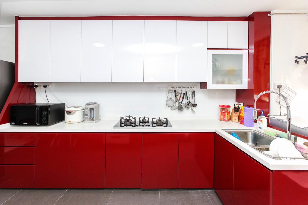 Contemporary, HDB, Kitchen, Jurong Street 41, Interior Designer, 9's Interior, Indoors, Interior Design, Room
