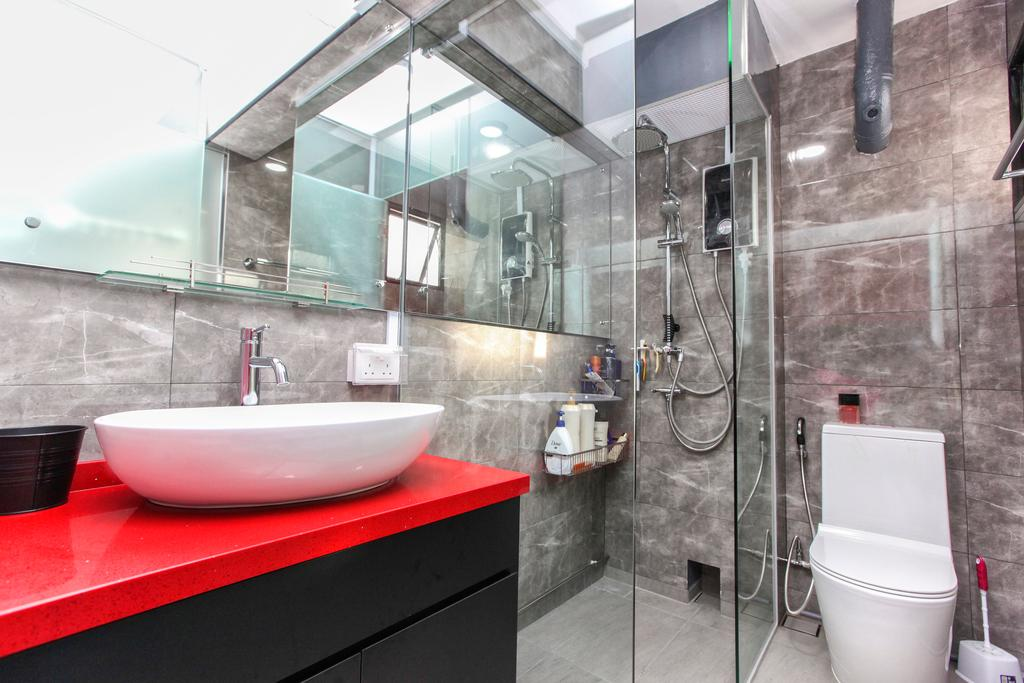Contemporary, HDB, Bathroom, Jurong Street 41, Interior Designer, 9's Interior, Indoors, Interior Design, Room