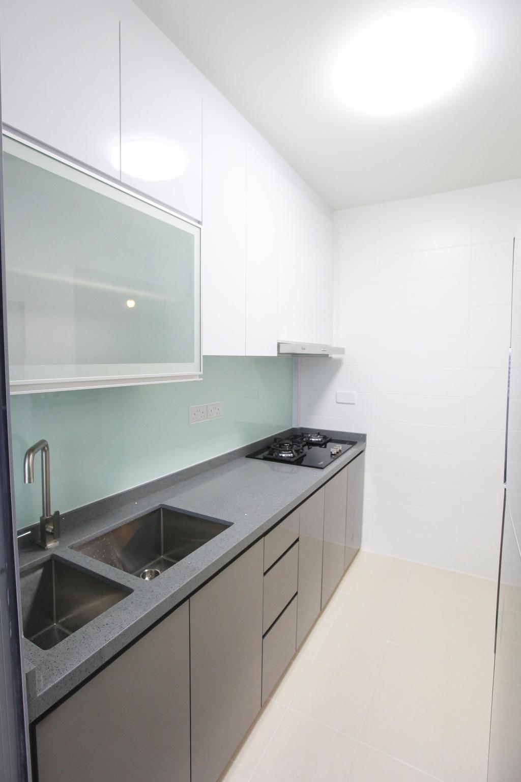 Modern, HDB, Kitchen, Upper Serangoon View, Interior Designer, 9's Interior, Tap