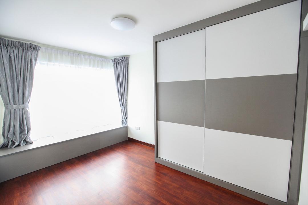 Upper Serangoon View, 9's Interior, Modern, HDB, Curtain, Home Decor, Building, Housing, Indoors, Loft