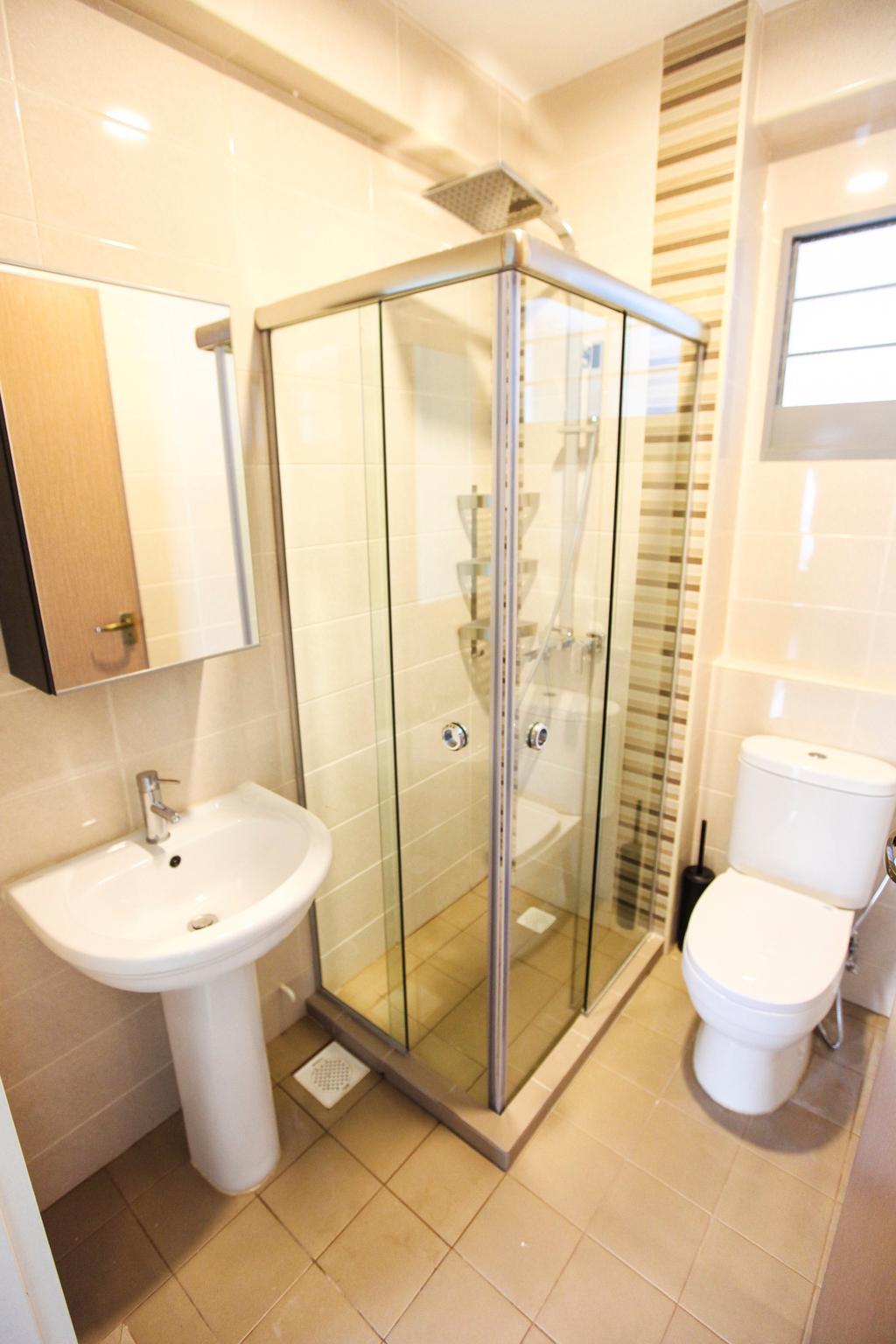 Modern, HDB, Bathroom, Upper Serangoon View, Interior Designer, 9's Interior, Toilet, Indoors, Interior Design, Room, Tub