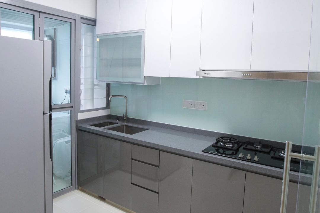 Upper Serangoon View, 9's Interior, Modern, Kitchen, HDB, Indoors, Interior Design, Room, Sink