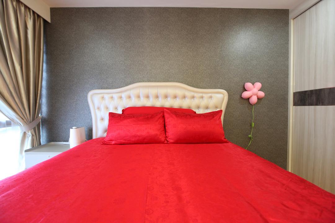 Twin Waterfalls, 9's Interior, Modern, Bedroom, Condo, Bed, Furniture, Indoors, Interior Design, Room