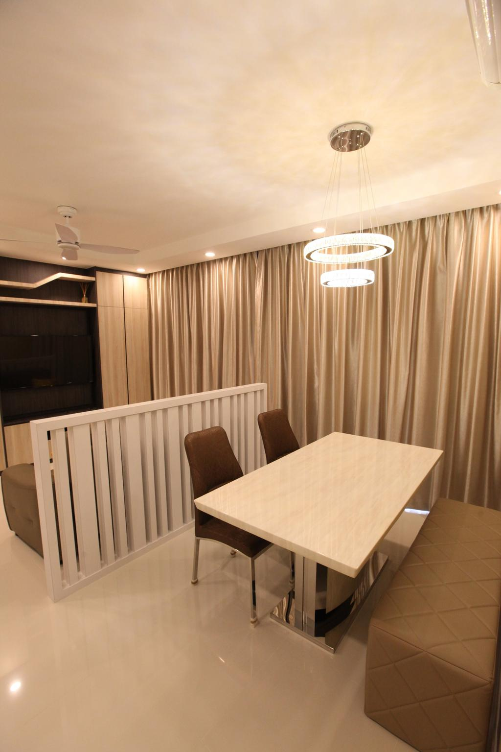Modern, Condo, Dining Room, Twin Waterfalls, Interior Designer, 9's Interior, Plywood, Wood