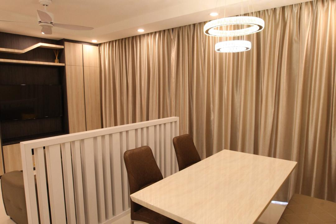 Twin Waterfalls, 9's Interior, Modern, Dining Room, Condo, Plywood, Wood