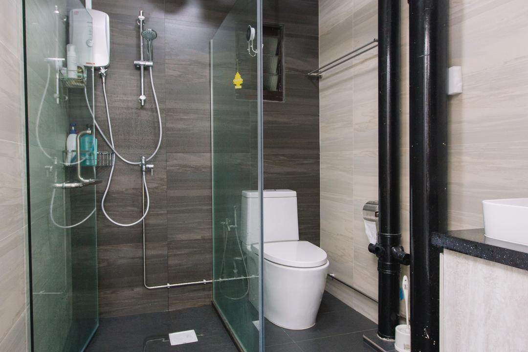 Choa Chu Kang North 6, 9's Interior, Scandinavian, Bathroom, HDB, Toilet, Indoors, Interior Design, Room, Sink