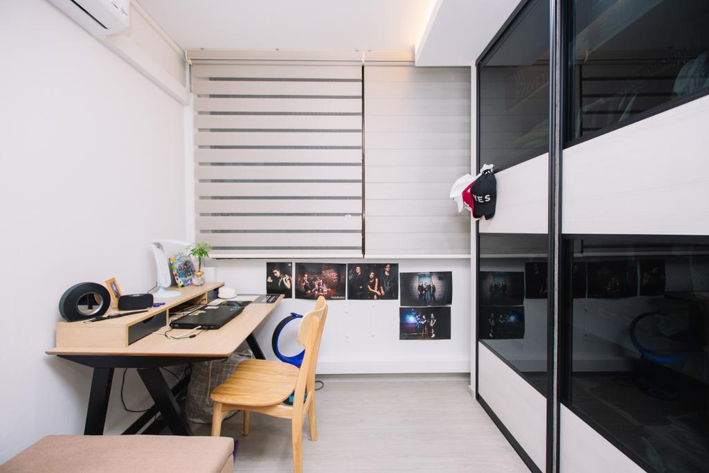 Scandinavian, HDB, Study, Choa Chu Kang North 6, Interior Designer, 9's Interior