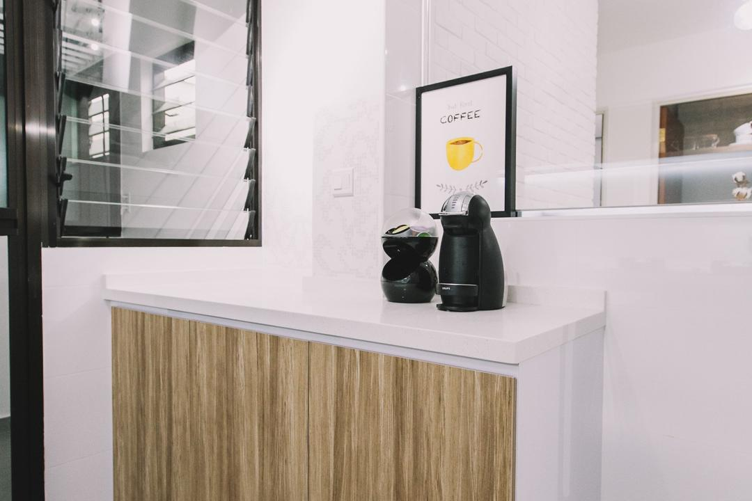 Keat Hong Link, 9's Interior, Scandinavian, Minimalistic, Kitchen, HDB, Bottle
