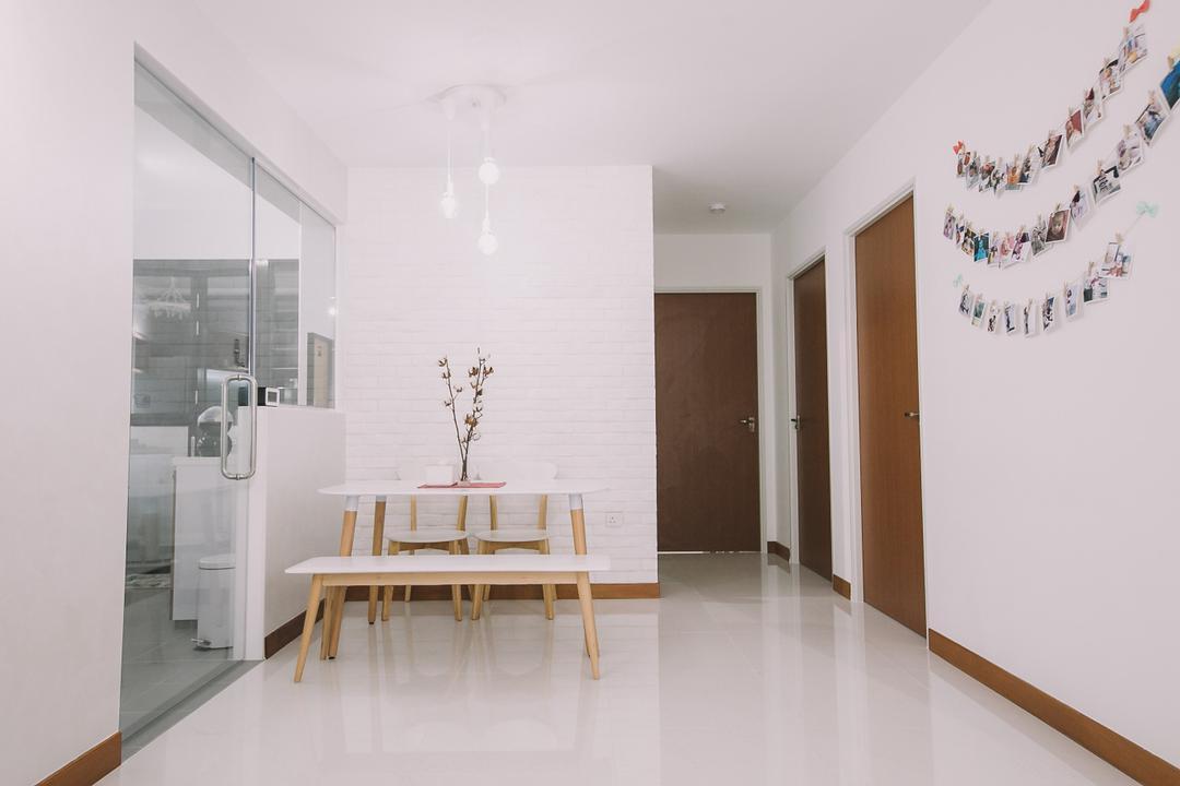 Keat Hong Link, 9's Interior, Scandinavian, Minimalistic, HDB, Dining Table, Furniture, Table, Indoors, Interior Design, Dining Room, Room, Chair