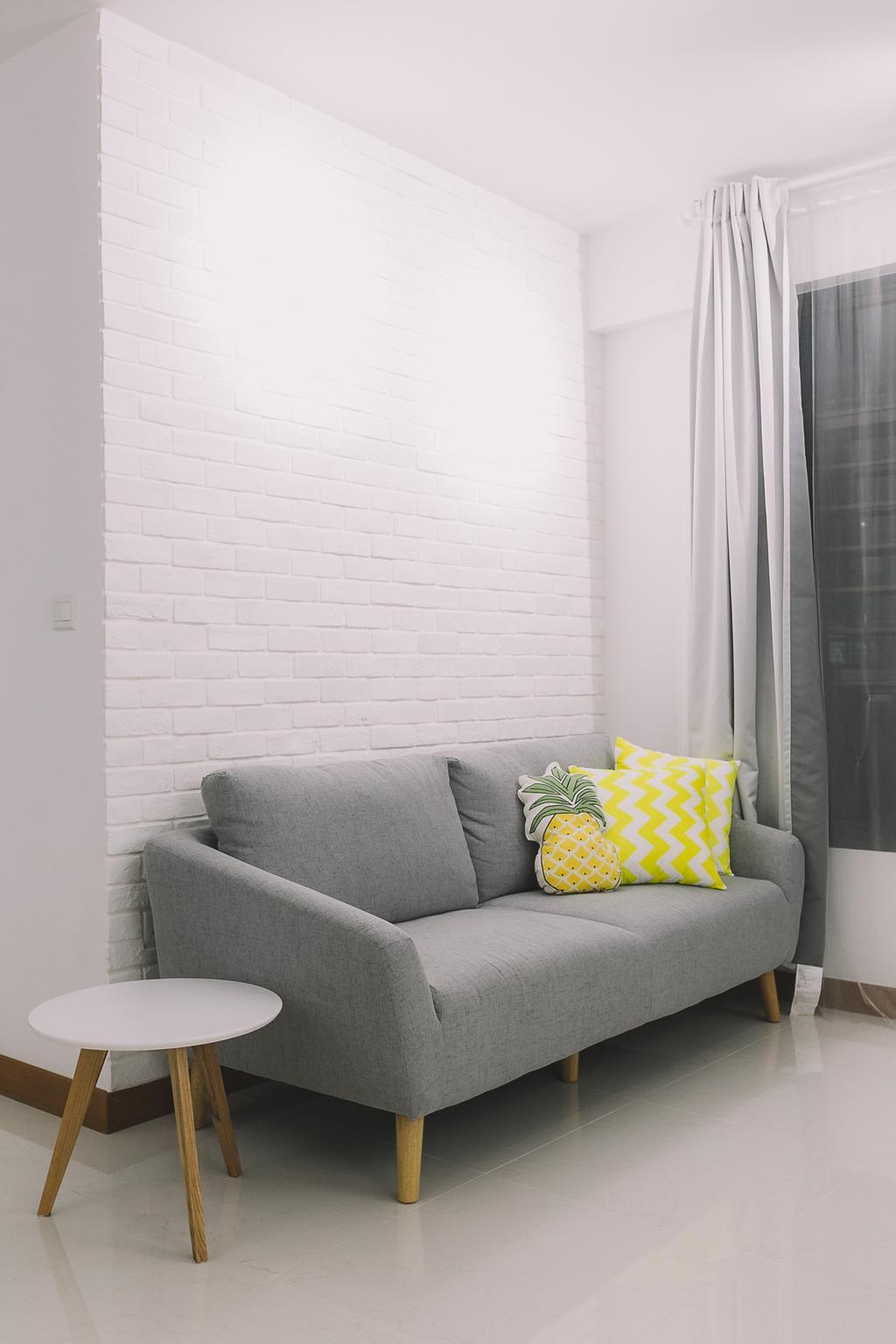 Scandinavian, HDB, Living Room, Keat Hong Link, Interior Designer, 9's Interior, Minimalistic, Chair, Furniture, Cushion, Home Decor
