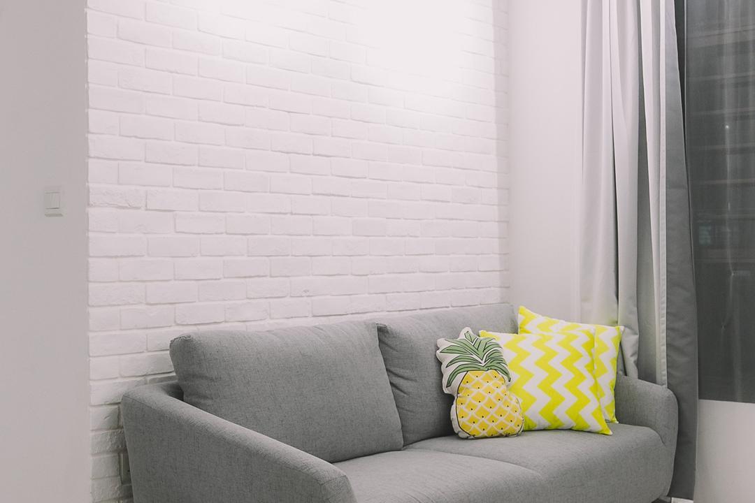 Keat Hong Link, 9's Interior, Scandinavian, Minimalistic, Living Room, HDB, Chair, Furniture, Cushion, Home Decor
