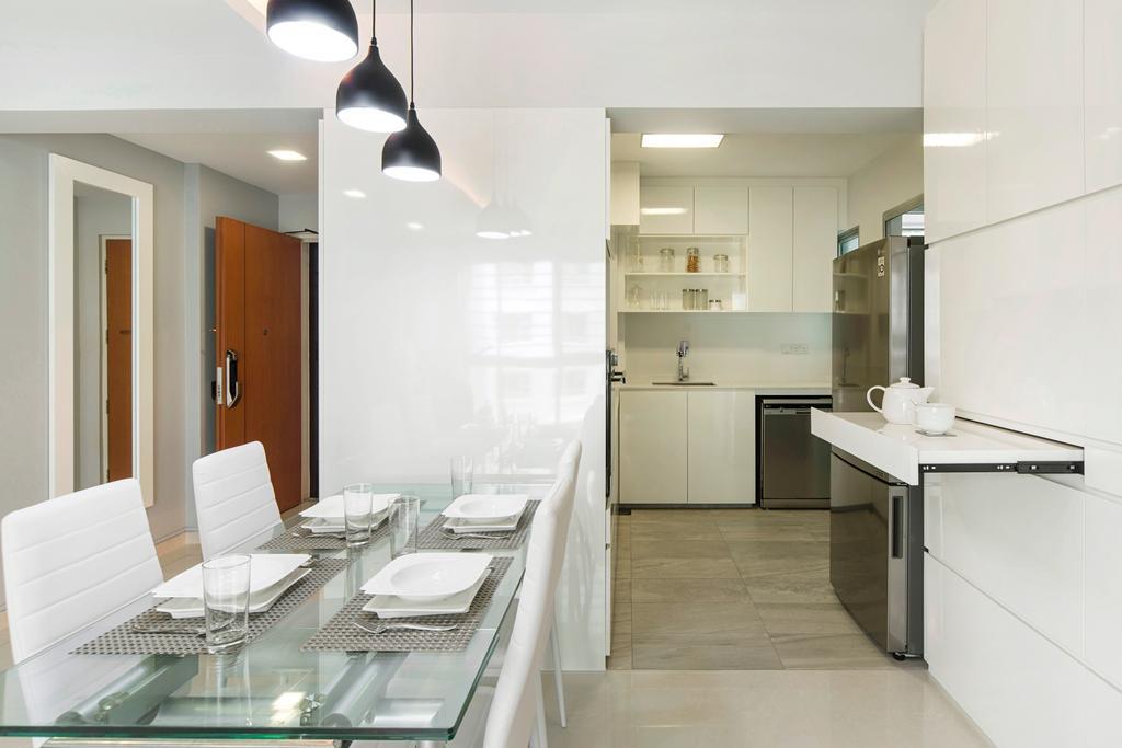 Modern, HDB, Dining Room, Punggol Drive, Interior Designer, Cozy Ideas Interior Design, Bathroom, Indoors, Interior Design, Room